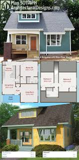 small bungalow house plans with garage charming 3d simple floor