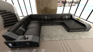 L Sofa Xxl Wohnlandschaft Matera Xxl U Form Design Couch Led