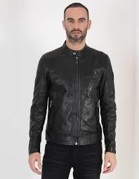 v racer leather blouson jacket