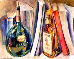 bottles and books