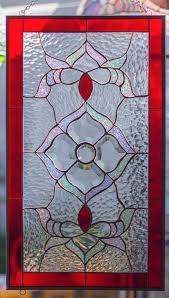 tiffany style stained glass window rv main door insert beveled flower swirls