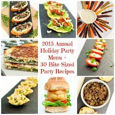 Party Menu 2015 Annual Holiday Party Menu 30 Vegan Bite Sized Party Recipes