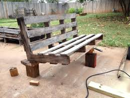garden bench out of pallets 5 easy steps to turn a pallet into an outdoor patio