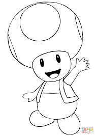 Small Picture Mario Bros Toad coloring page Free Printable Coloring Pages