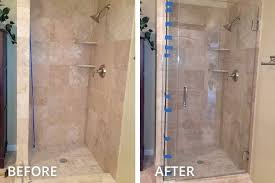 before and after shower glass swing door before and after shower glass installation