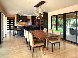 wooden dining room chandeliers dining table chandeliers bubble chandelier over log wood dining table using brown