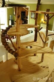 Diy cat playhouse Tardis Cat 7 All Wood Diy Cat Playground Homesthetics 47 Brilliant Easy Homemade Diy Cat Toys For Your Furry Friend