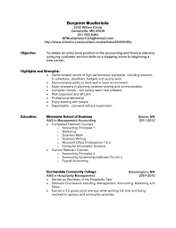 Entry Level Accounting Job Resume Simple Entry Level Objective