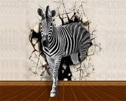 <b>Beibehang Wallpaper For Walls</b> 3 D Wallpaper Wall Zebra Wood ...