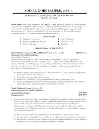 Social Work Resume Examples Sample Social Work Resume Examples