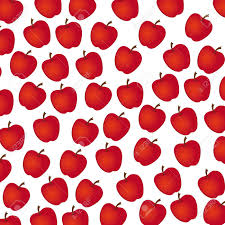 Apple Pattern Extraordinary Apple Pattern On White Background Illustration Royalty Free
