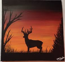 buck deer in the woods silhouette by sweetcandypurses on 10 00