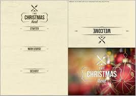 Free Printable Holiday Menu Template Prettier Christmas Food