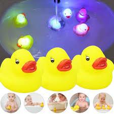 Water Toy Baby Bath <b>Induction</b> Glowing <b>Duck</b> Floating <b>Little Yellow</b> ...