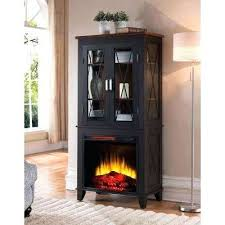 fireplace accents display cabinet electric in black with walnut stone accent wall color