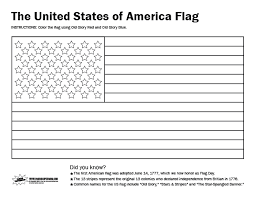 American Flag Coloring Page For First Grade Color Bros