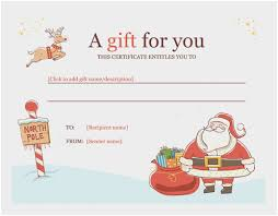 Free Printable Holiday Gift Certificates Inspiration Gift Certificate Letter Template Beautiful Gift Certificate