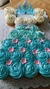 Frozen Fever Elsa Dress Cupcake Cake Adrians 2nd Birthday