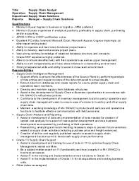 Supply chain analyst resume and get inspired to make your resume with these  ideas 5