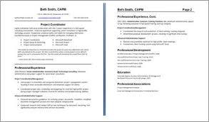 Two Page Resume Sample Pusatkroto Com