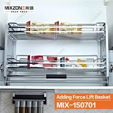 pulldown shelf lift up basket pull down unit lifter organizer basket stainless steel kitchen wall cabinet pulldown shelf