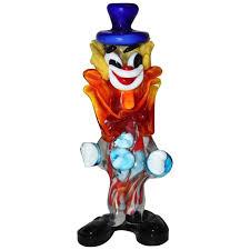 multicolored mid century murano glass clown italy 1950s for