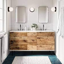 Reclaimed Wood Lacquer Double Bathroom Vanity