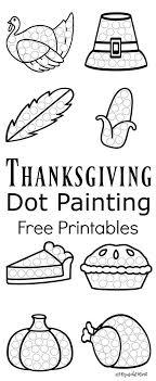 Fall Dot Painting {Free Printables   Painting activities, Dot ...