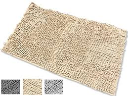 non slip bath mat microfiber chenille bathroom rugs carpet shower rugs super soft