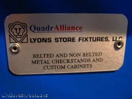 Quadralliance-lyons store fixtures, llc check out stand