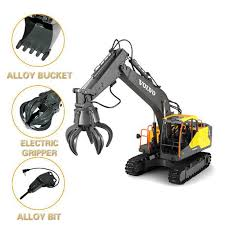 <b>E568</b> 2.4G <b>3in1</b> Alloy RC Excavator 1:16 Alloy 17ch Big RC Trucks ...