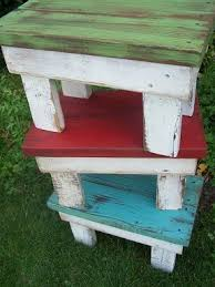 Garden seats made out of pallets