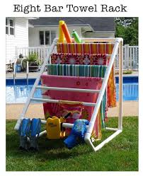 Pool Towel Drying Rack Stunning PVC Pool Towel Rack Totally Need This WantNeedLove