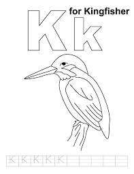 Small Picture K for kingfisher coloring page with handwriting practice