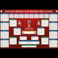 World Cup Planner Chart 2018 Official Original 2018 Fifa World Cup Russia Schedule Bracket Wall Chart Poster