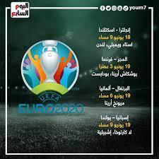 يورو 2020.. الجدول الكامل لمواعيد مباريات مرحلة المجموعات بأمم أوروبا