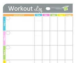 Weight Progress Chart Free Chart For Exercise Free Printable