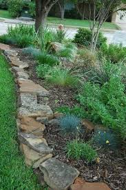 garden edgers. Stacked Flat Edging Stones Garden Edgers \