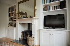 traditional bespoke alcove shelving bookcase bristol