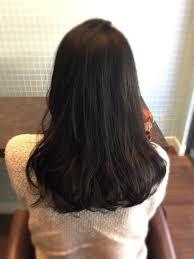 黒髪ミディアムヘアオックスクリエーション桃山所属清水由佳のヘア