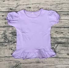Fancy Top Design For Girl Boutique Knit Dress Baby Short Sleeve Top Girls Fancy T