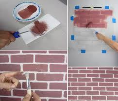 stencil brick wall patterns