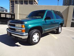 RARE 1997 Chevrolet 2 Door Tahoe 4x4 Low Miles Remote Start Green ...