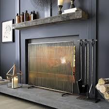 minimal fireplace screen