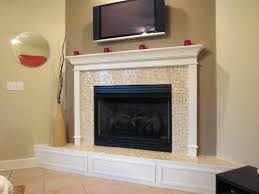 glass tile fireplace surround mantels how to install ideas