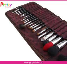 private label 24pcs professional makeup brush sets philippines luxury cosmetic brush set with 3 colors