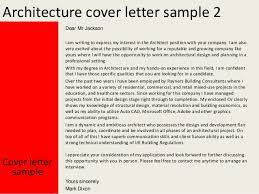 architecture architecture cover letter