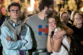 Image result for distraught hillary supporters
