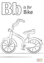 Letter B Is For Bike Coloring Page Free Printable Coloring Pages