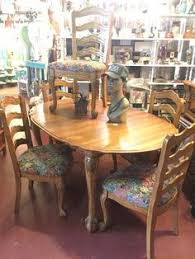 find this pin and more on antiques vine oak oval with claw feet dining table includes 6 upholstered chairs